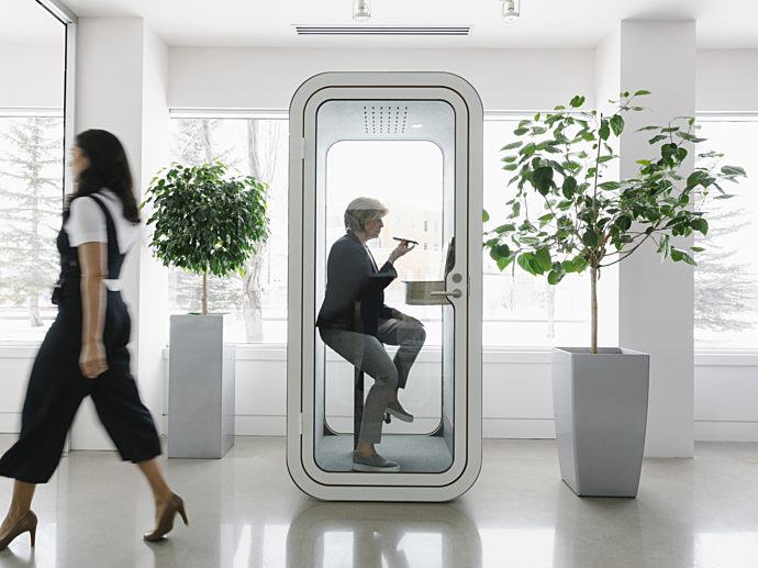 People, office, 2020 Calgary Showroom Framery O Pod