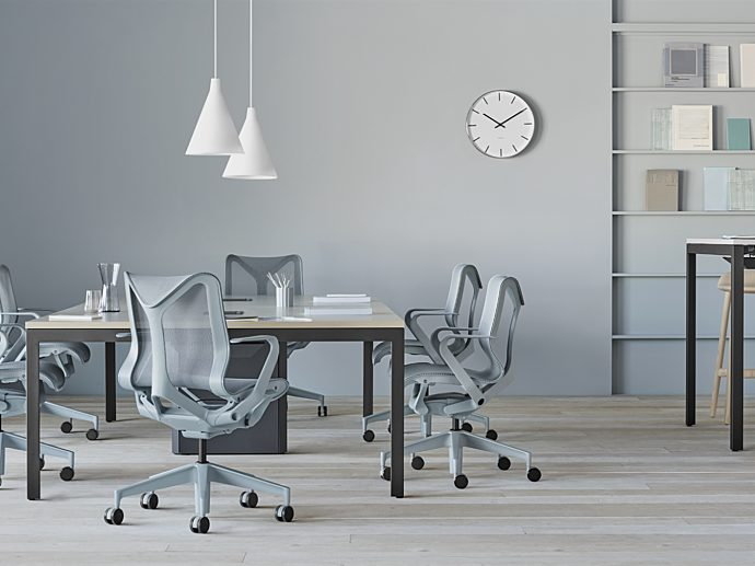 Cosm chairs, crosshatch stools, layout studio, herman miller,