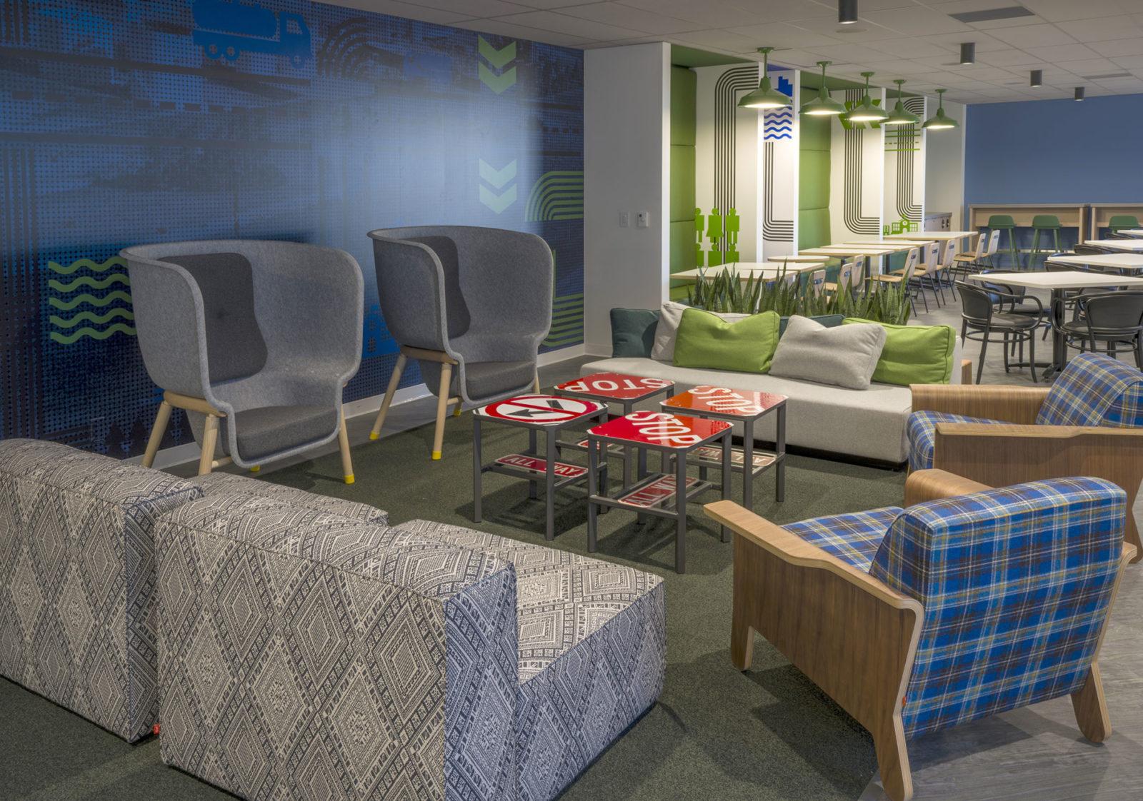 18th Floor Employee Lounge Blue